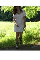 forever 21 dress - moms dress - Dr Martens - pamela love necklace