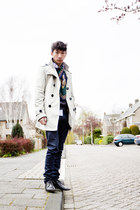 paulsmith shoes - acne jeans - asos jacket - vintage scarf