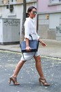 White-ferrache-dress-black-michael-kors-bag-zara-sunglasses