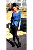 blouse - skirt - Jessica Simpson heels