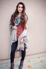 Leather-michael-kors-boots-spandex-zella-leggings-bird-print-hinge-scarf