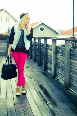 pink Cheap Monday jeans