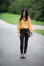 chiffon new look shirt - H&M pants - H&M heels