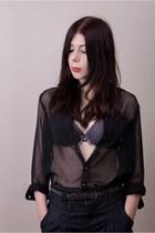 puce Change Lingerie bra - dark gray Bershka jeans - black Terranova shirt