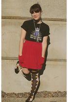 red Target skirt - brown Target socks - black ThinkGeek t-shirt - black Target s
