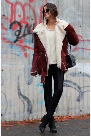 burgundy Forever 21 jacket - black Rack room shoes boots