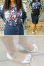 Top-skirt-necklace-shoes