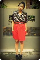 Brings Back shirt - Gaudi skirt - Underground wedges