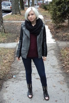 H&M jacket - Jeffrey Campbell boots - vintage sweater