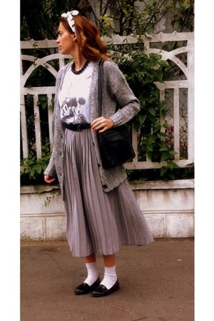 vintage bag - new look shirt - vintage skirt