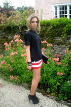 vintage t-shirt - Topshop skirt - Topshop boots