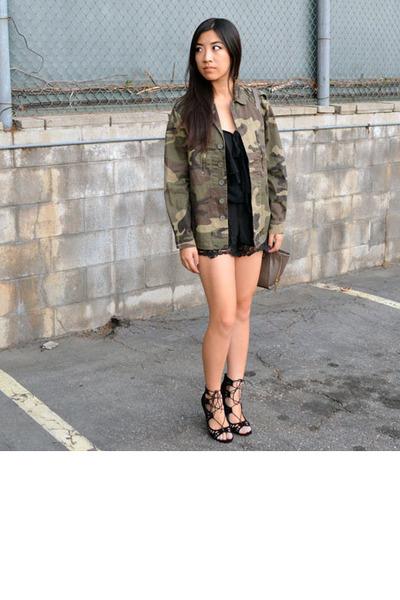 camo jacket Lovemarks Co jacket - Phillip Lim x Target purse - shoemint heels