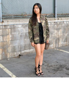 camo jacket Lovemarks Co jacket - Phillip Lim x Target purse - shoemint heels