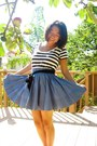 Striped-shirt-skirt
