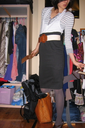 skirt - belt - blouse