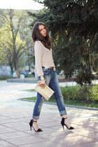 Zara sandals - Ralph Lauren jeans - H&M sweater - Michael Kors watch