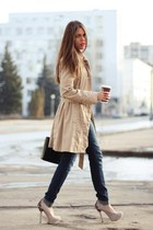 asos pumps - DKNY coat - J Brand jeans - Gillian bag
