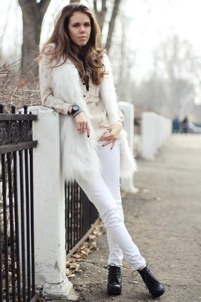 River Island vest - Jeffrey Campbell boots - Michael Kors jeans - asos shirt