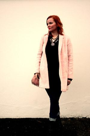 cut out Topshop boots - pastel pink Topshop coat