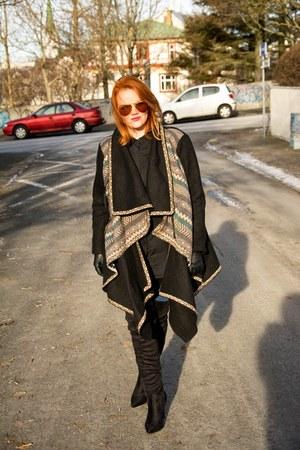 Júniform coat - new look boots - aviator Ray Ban sunglasses