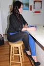 Black-forever-21-shirt-colorblock-leggings-black-h-m-blazer