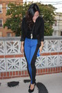 Black-forever-21-shirt-colorblock-leggings-black-h-m-blazer