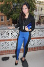 Colorblock-leggings-black-h-m-blazer-black-forever-21-shirt
