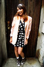 Black-charlotte-russe-dress-pink-thrifted-blazer