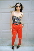 bodysuit Zara top - Forever 21 sunglasses - orange H&M pants