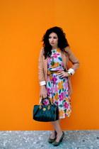 thrifted vintage dress - H&M blazer - Fendi bag - H&M belt - Michael Kors watch