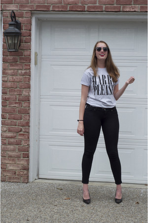 outsidertees shirt - Urban Outfitters sunglasses - 7 for all mankind pants