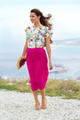Hot-pink-asoscom-skirt-cream-mango-top