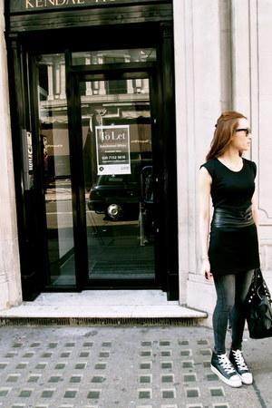 denim Topshop leggings - balenciaga bag - Ray Ban sunglasses - ohmygod sneakers