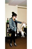 gray Toy via Nastygal blazer - black Urban Outfitters top - black American Appar