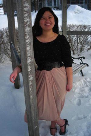 Urban Behaviour sweater - American Apparel skirt - Dorothy Perkins belt