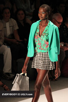 aquamarine Nanette Lepore blazer