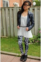 navy motorcycle Motel Rocks jacket - black Black Milk Clothing jumper