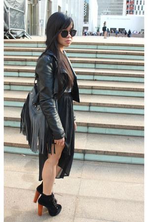 black H&M jacket - heather gray Aldo purse