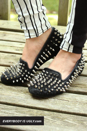 Black-spiked-loafers