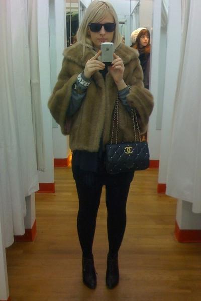 coat - Forever21 blouse - jonathan saunders for target skirt - tights - scarf -