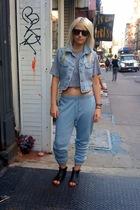 Vintage Levis vest - American Apparel t-shirt - Alexander Wang pants - Moral Fib