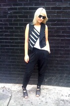 Target vest - Sosume Clothing sosumeclothingcom t-shirt - H&M pants - Dolce Vita