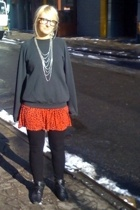 sweater - forever 21 dress - Urban Outfitters leggings - Dolce Vita shoes - Styl