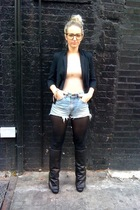 black vintage jacket - black Dolce Vita Josey boots - blue Vintage Levis jeans