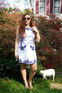 White-printed-piperlime-dress-hot-pink-floral-print-asos-sunglasses