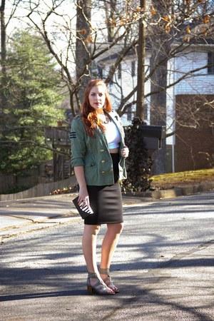 black Thalia Sodi for Macys skirt - olive green military Cabi jacket