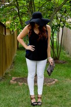 black floppy hat necessary clothing hat