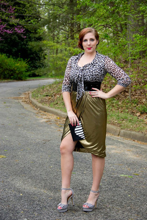 gold Piperlime Collection skirt