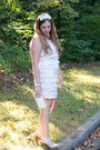 Eggshell-layering-loft-dress-white-clutch-bcbg-max-azria-bag