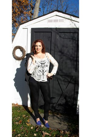 white lace top I Heart Aardvarks Boutique top